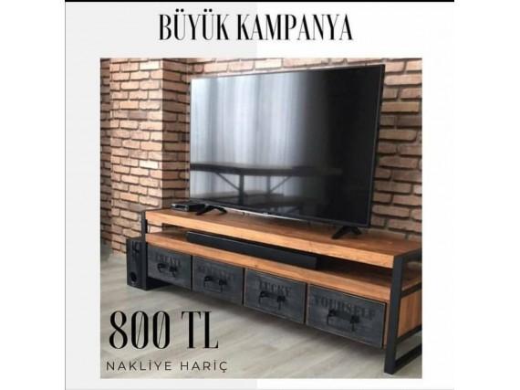 MASİF AHŞAP TV SEHPASI  KAMPANYASI-EKO15